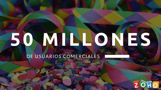 50 millones de usuario zoho